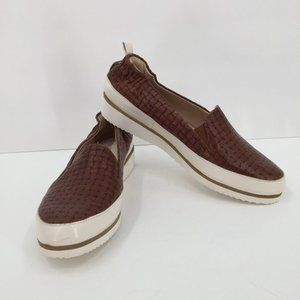 Ron White Nell brown woven chunky sneakers 37.5 7